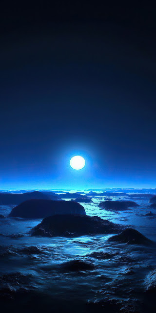 HD wallpaper Planet, Rocks, Moon, Dark, Night