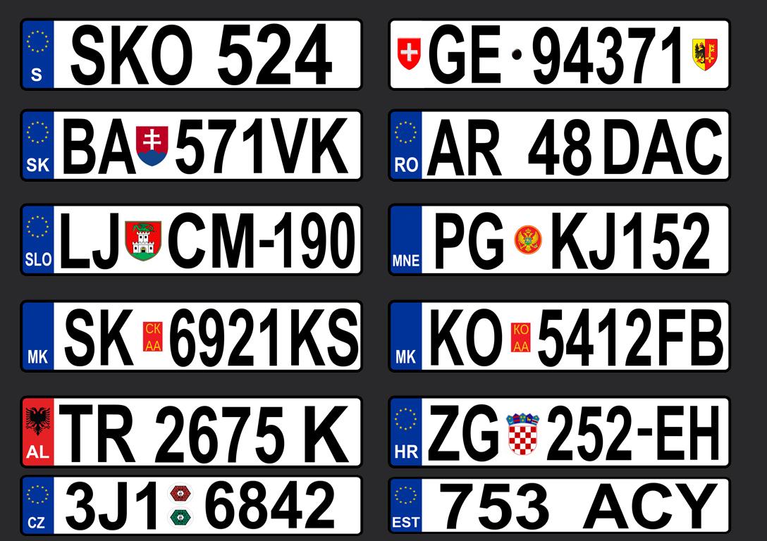 Gta Serbia Hq European License Plates Pack1