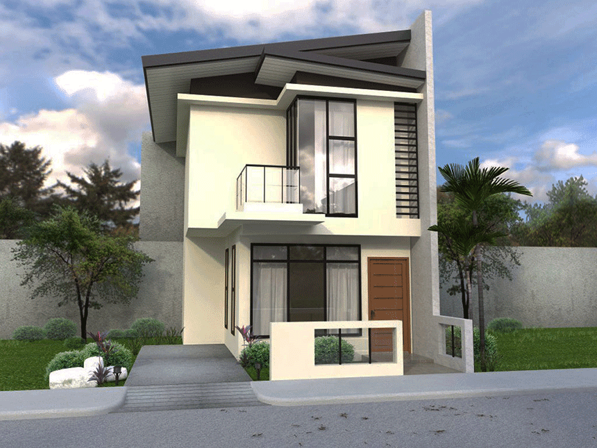 Collection 50 beautiful narrow house design for a 2 story for Two story home designs