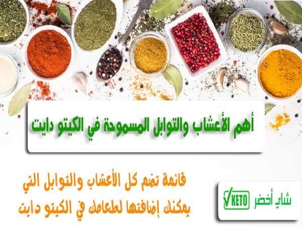 قائمة بأفضل الأعشاب والتوابل المسموحة في نظام رجيم الكيتو دايت