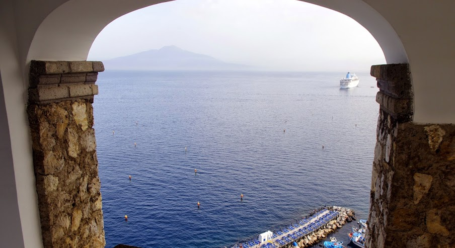 View Bay of Naples from Maison La Minervetta Sorrento Italy