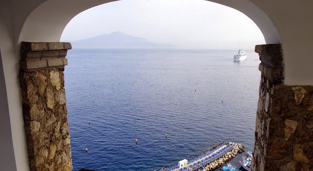 View Bay of Naples from Maison La Minervetta Sorrento Italy