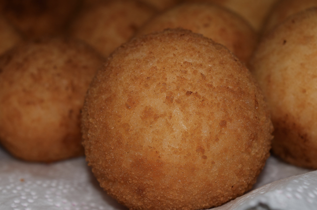 Sicilian arancini rice balls