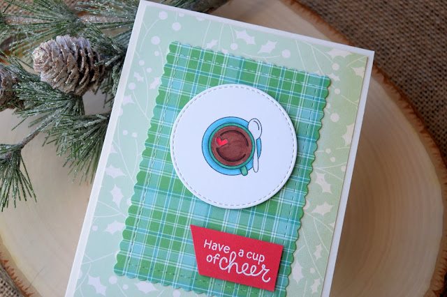Newton's Nook Designs Cup of Cocoa Card by Jess Crafts