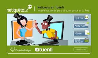 Netiqueta de PantallasAmigas + Tuenti