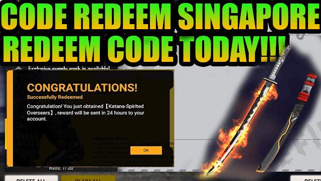 Redeem Code Free Fire Server Singapore | FF Redeem Code Singapore Region 2021
