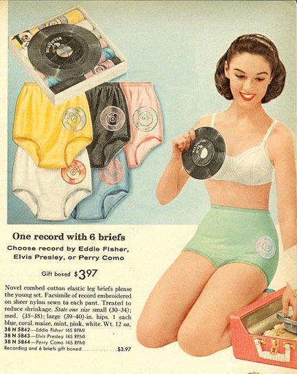 Let s fast forward to flash back today with this 1950s magazine ad for  lady s underwear. That s right ff981499c