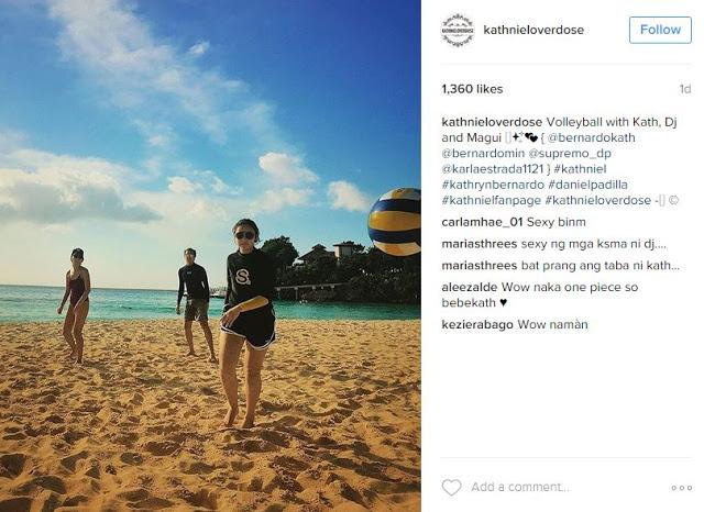 Kathryn Bernardo showed off her bikini body! Who wore bikini better, Nadine Lustre or Kathryn Bernardo?