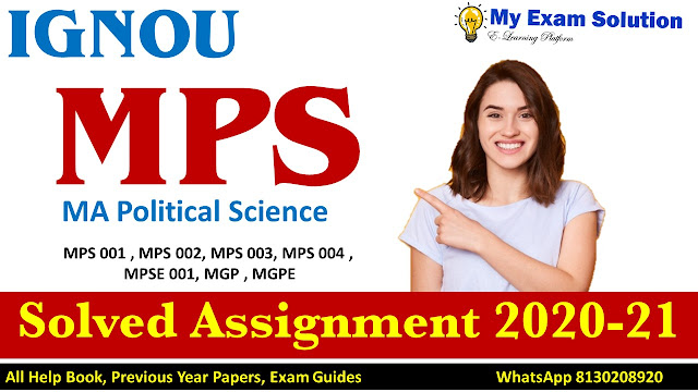 IGNOU MPS Solved Assignment , IGNOU MPS Solved Assignment 2020-21