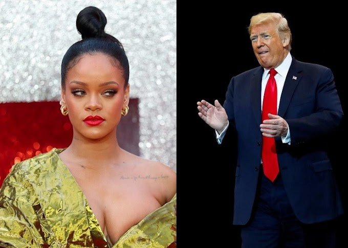 Rihanna calls President Trump the 'most mentally ill human being in America'