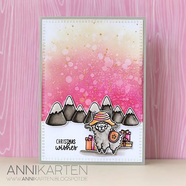 Sunny Studio Stamps: Alpaca Holidays Customer Christmas Themed Card by Anika Lerche