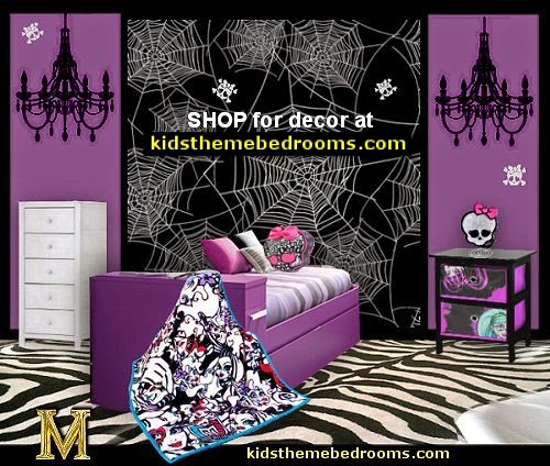 Monster High theme bedroom SKULLS decorating ideas skull bedrooms skull decor