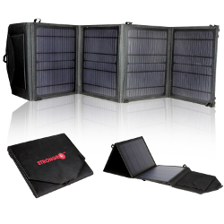 LB1 High Performance 28W Solar Charger Foldable High Efficient Monocrystalline Panels for Charging Laptops (15-18V), Ultra Fast 2.1A USB iCharging Technology for Cell Phone, iPhone, Tablet, Laptops