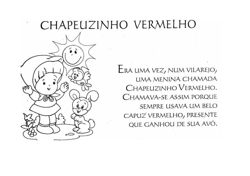 ESCOLA MUNICIPAL CIRILA: CHAPEUZINHO VERMELHO PARA COLORIR