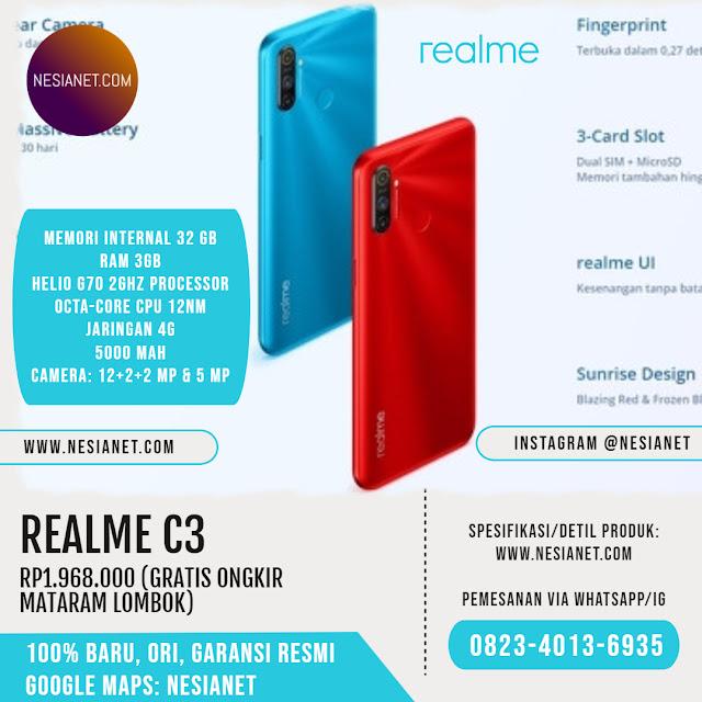 Jual Realme C3 Smartphone Mataram Lombok