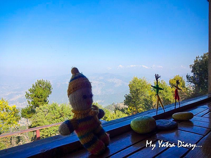 Stunning mountian views at Alhito Kasar Devi Uttarakhand