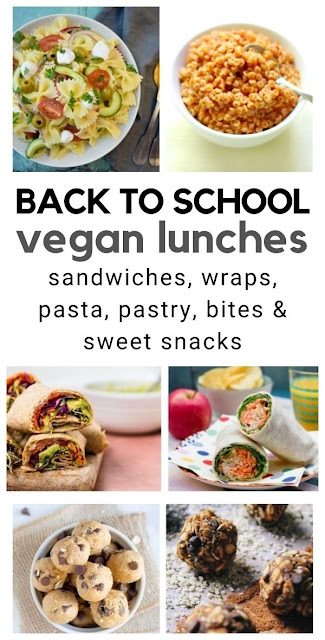 Back to School Vegan Lunches for Kids. Easy vegan lunch ideas to add to kids lunch boxes.