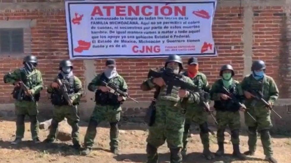 """""""Empezó la limpia señores"""", Sicarios del CJNG anuncia su llegada al Estado de México y amenaza a La Familia Michoacana"""