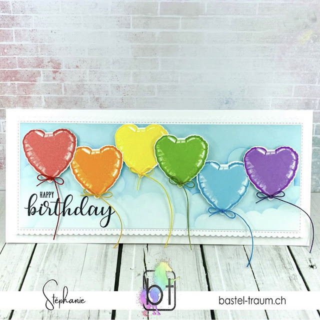 Sunny Studio Stamps: Bold Balloons Birthday Balloons Customer Card by Stephanie Klein