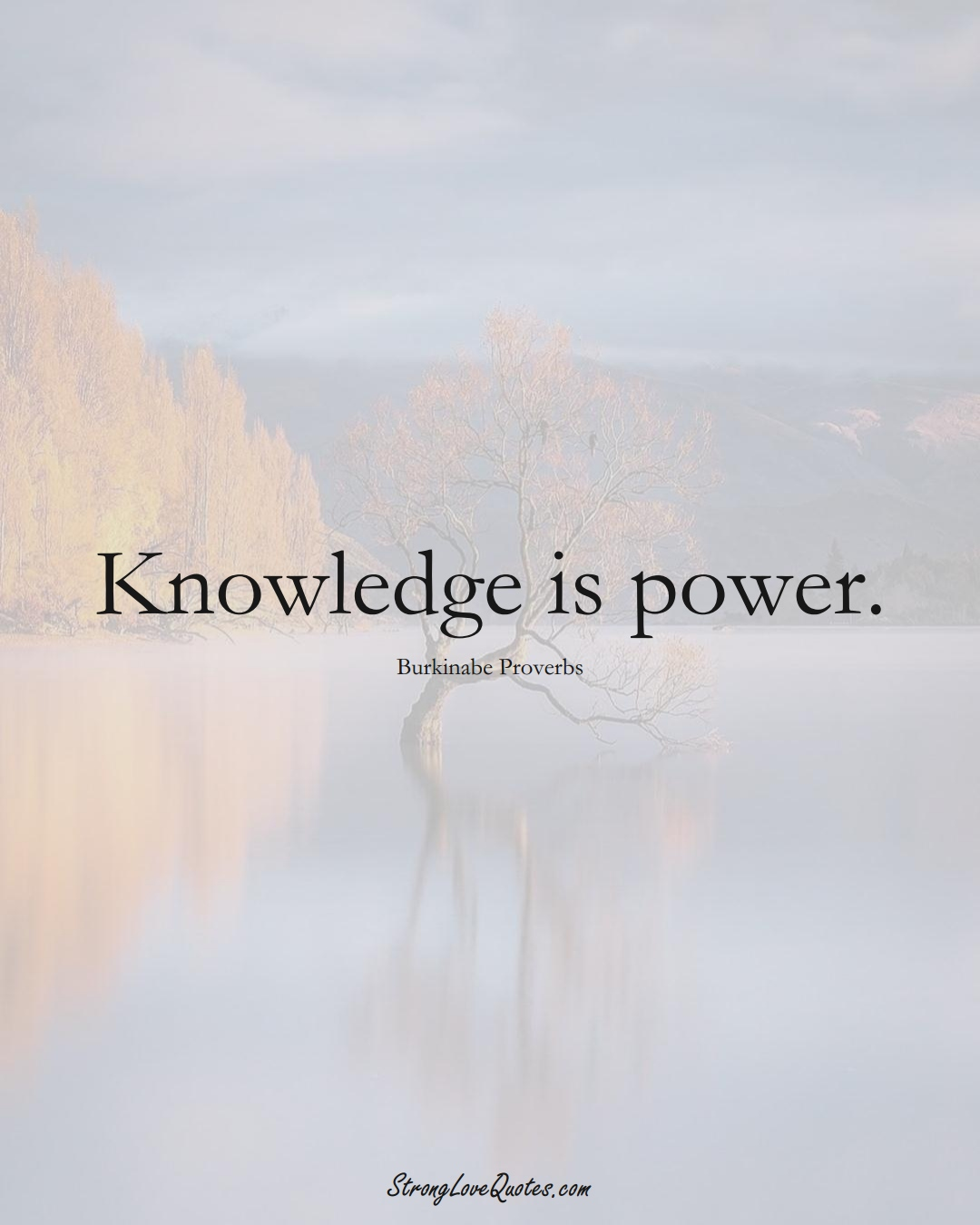 Knowledge is power. (Burkinabe Sayings);  #AfricanSayings