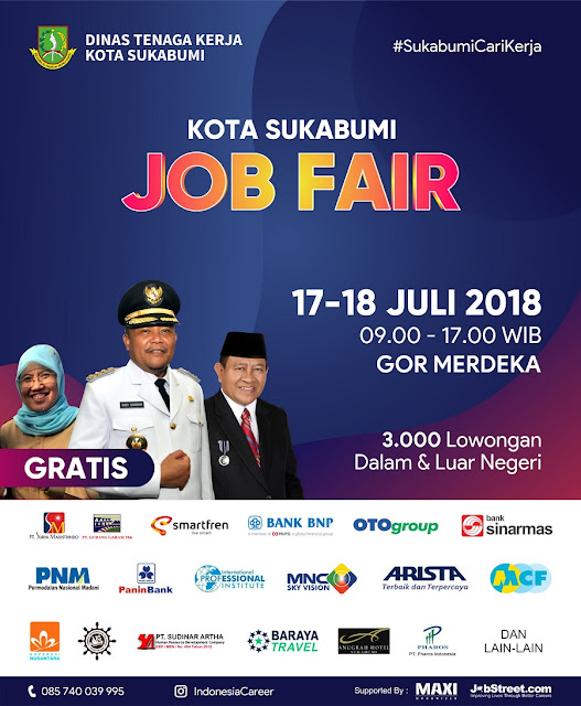 Job Fair Sukabumi Juli 2018 - Gratis