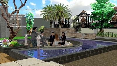 Jasa pembuatan kolam koi jasataman co id surabaya jawa timur