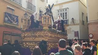 Nuestro Padre Jesús del Mayor Dolor (Hdad de La Sanidad) por el Populo. Semana Santa Cádiz 2019
