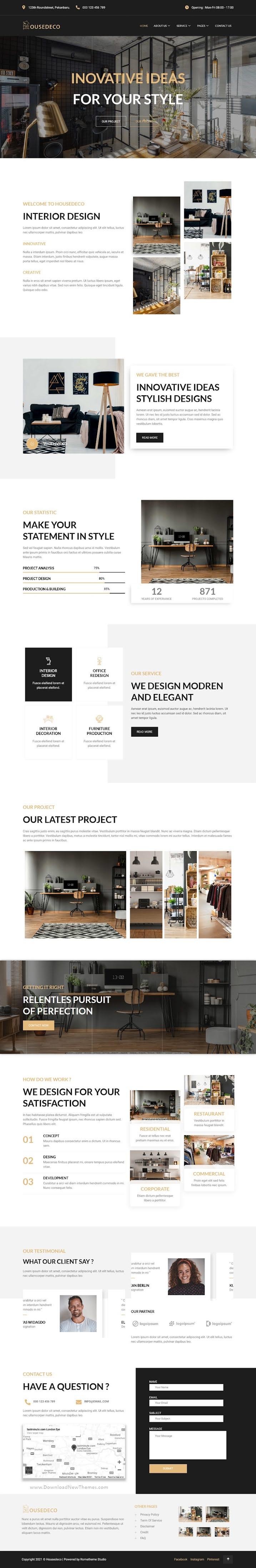 Interior Design Elementor Template Kit