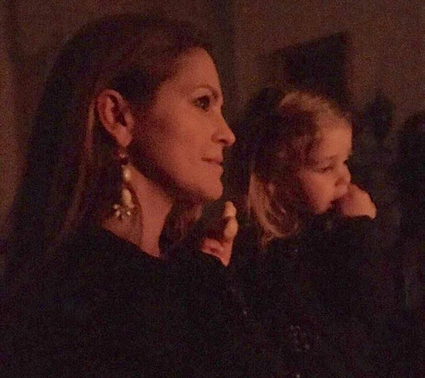Princess Leonore and Princess Madeleine at a hymnody concert for Saint Lucy's Day at Swedish Embassy in London