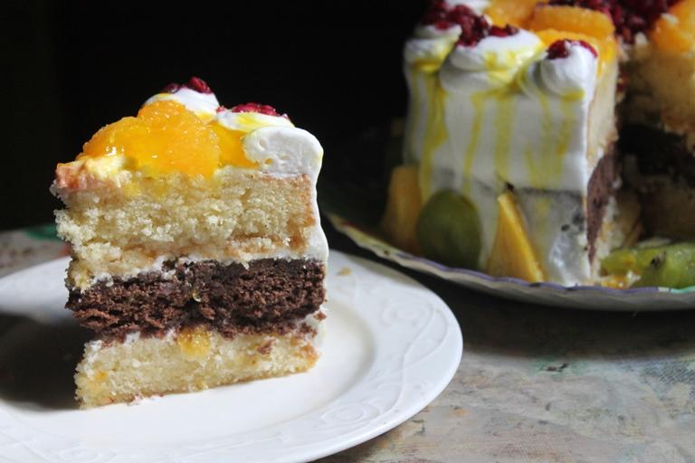 Layered Vanilla Cake Recipes: Vanilla And Chocolate Layer Cake Recipe