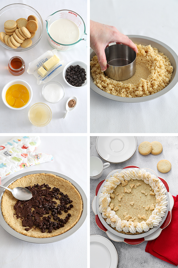 Black Bottom Eggnog Pie