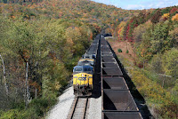 Meeting an empties train at Corwith (state line between Maryland and West Virginia) (Credit: trainboard.com) Click to Enlarge.
