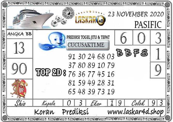 Prediksi Togel PASIFIC LASKAR4D 23 NOVEMBER 2020