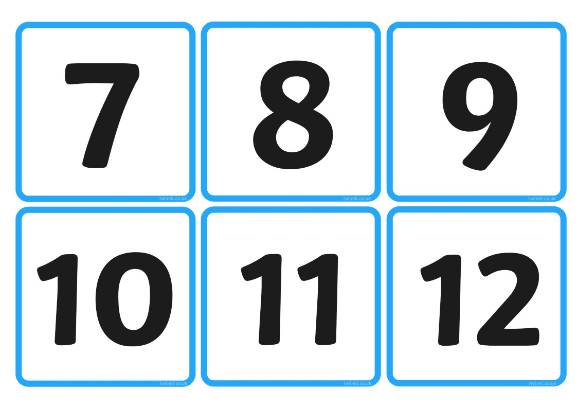 Number And Quantity Matching Cards 1 20