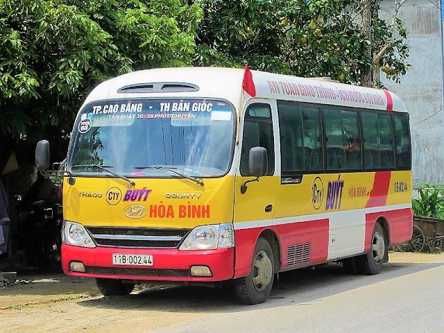 cao bang ban gioc public bus vietnam