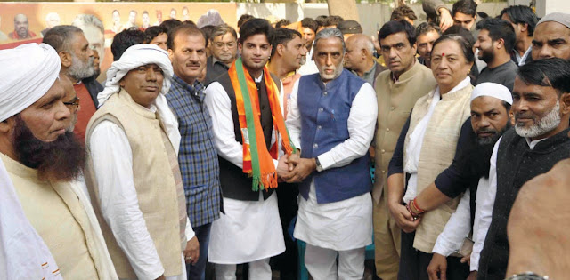Dr. Shihad Khan of Nunha join bjp with the hundreds of Muslims in faridabad