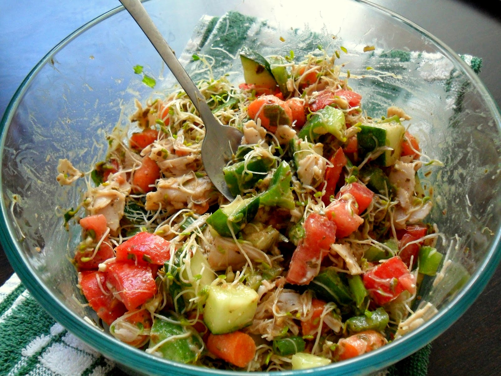 Basil Pesto Sprouts Salad from Hungry Gator Gal (no lettuce required!)