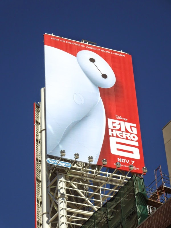 Disney Big Hero 6 movie billboard