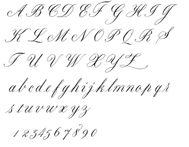 Calligraphy Alphabet : cursive calligraphy alphabet
