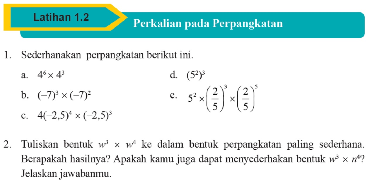Perkalian Bilangan Berpangkat Dasar Dilengkapi Soal Latihan dan Pembahasan (Matematika SMP Kelas IX Kurikulum 2013)