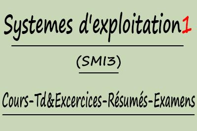 Systemes d'exploitation 1 SMI3 Cours // Td Et Exercices // Résumés // Examens