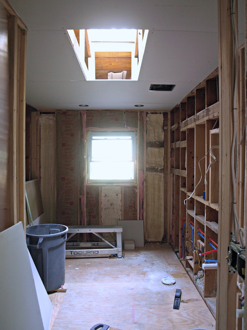keep in mind this bathroom was gutted down to the studs and the layout was completely reconfigured: architecture bathroom toilet