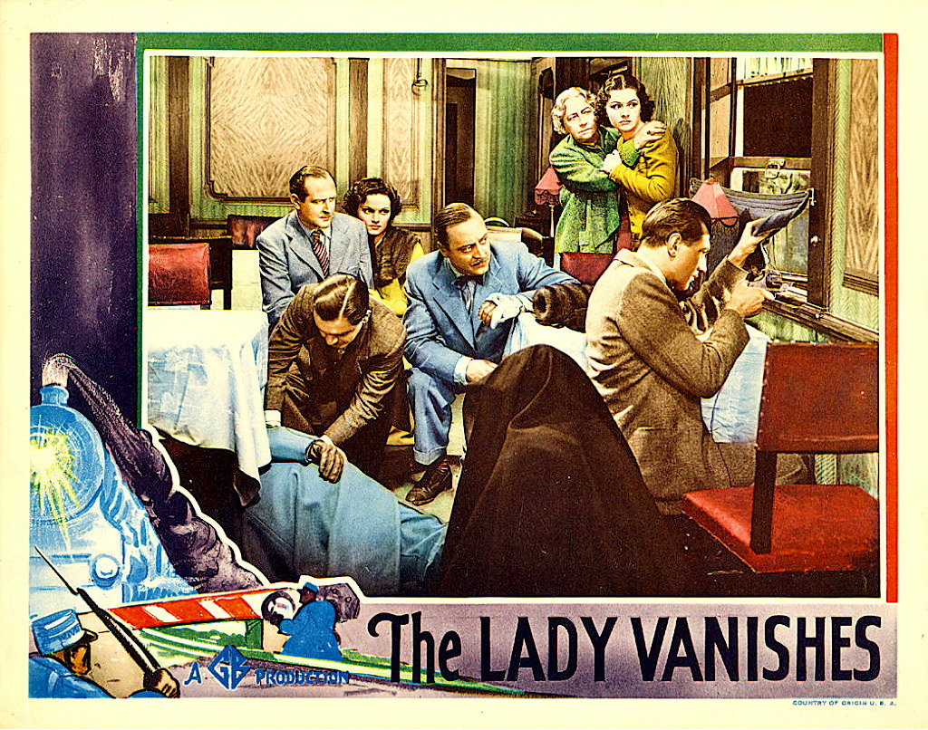 The Lady Vanishes (1938, dir. Alfred Hitchcock) US lobby card