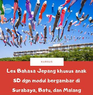 Les / Kursus Privat Bahasa Jepang di Malang, Batu dan Surabaya