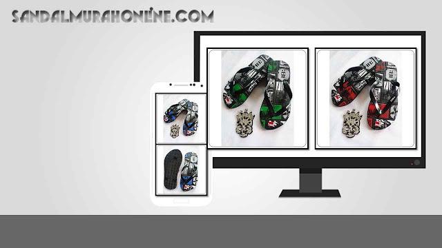 Pusat Sandal Murah Online AB Simplek Motif Harga Paling Murah