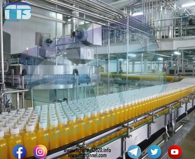 صناعة المشروبات والعصائر الصناعية | مكونات الشراب الصناعي وخطوات التحضير