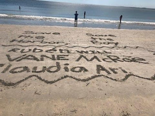we wrote in the sand