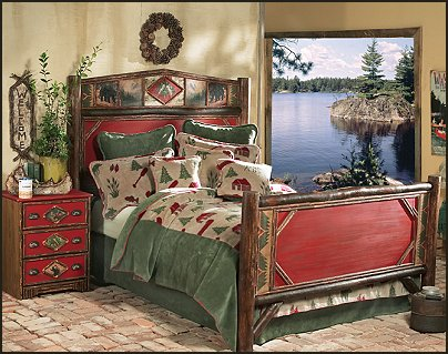 faux window decorating ideas log cabin - rustic style decorating - Cabin decor - bear decor - camping in the northwoods style  - Antler decor - log cabin boys theme bedroom - Cabin Bedding - Rustic Bedding - rustic furniture - cedar beds - log beds - LOG CABIN DECORATING IDEAS - Swiss chalet ski lodge murals - camping room decor - hunting and fishing theme decorating