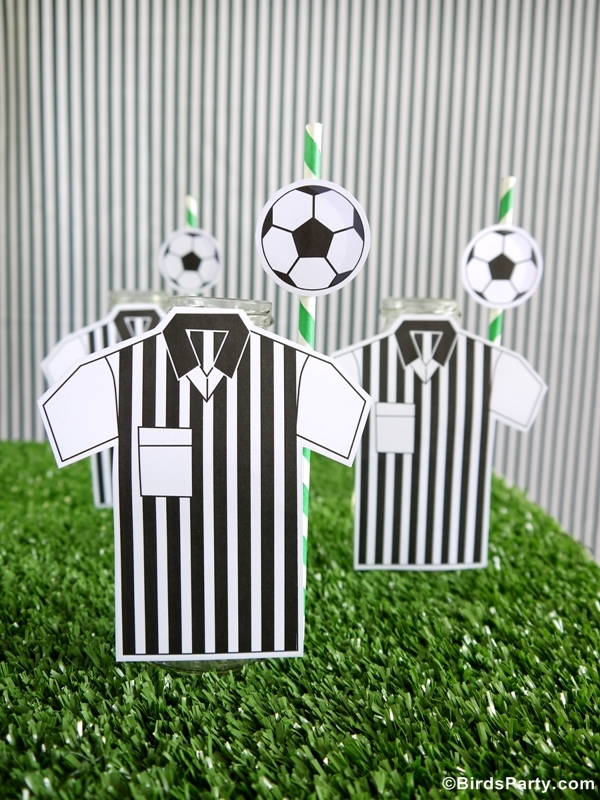 Soccer Football Birthday Party Desserts Table Ideas & Printables - BirdsParty.com