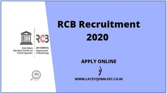 RCB Recruitment 2020 for Engineers,Technical Assistants & Officers online form